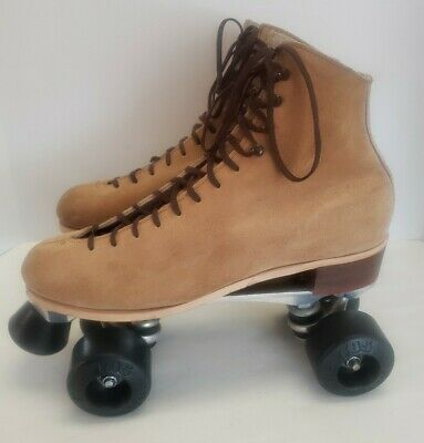 Riedell Red Wing 130 L  Roller Skates Suede Mens 10 Sure-Grip Super X 8L Kryptos