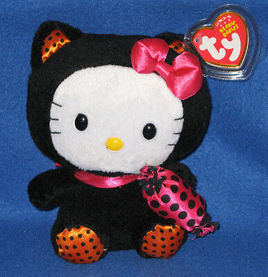 TY HELLO KITTY BEANIE BABY in BLACK CAT HALLOWEEN COSTUME - MINT with MINT TAG - Beanie Baby Costume Halloween