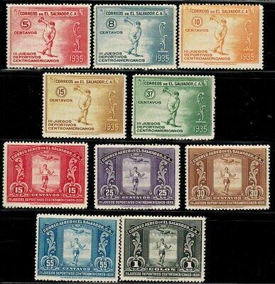 El Salvador #538-542, C36-40 Complete Set 1935 MLH