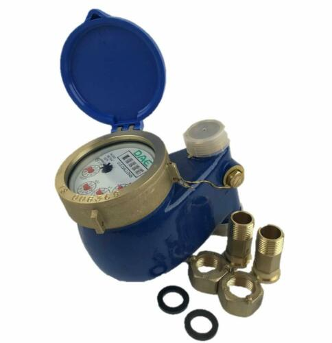 """DAE V-75 Vertical Water Meter, 3/4"""" NPT Couplings, Measuring in Gallons"""