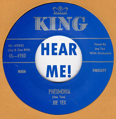 R B Blues  Repro  King 4840   Joe Tex   Davy  You Upset My Home   Pneumonia