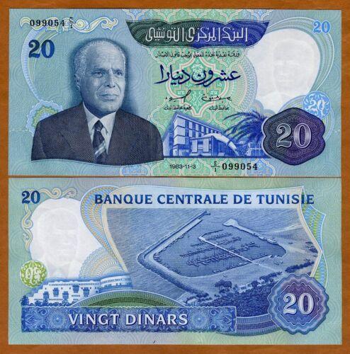 Tunisia, 20 Dinars, 1983, P-81, UNC