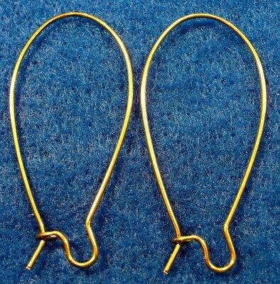 100Pcs. WHOLESALE Unplated BRASS KIDNEY 43mm Earwires Hook Tibetan Earring Q0673