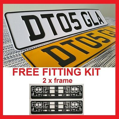 BMW Z3 - Car Pair Metal Aluminium Number Plates Embossed Pressed Legal