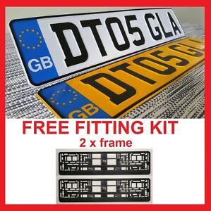 GB Badge Car Pair Metal Aluminium Number Plates Embossed Pressed 100% Legal ....