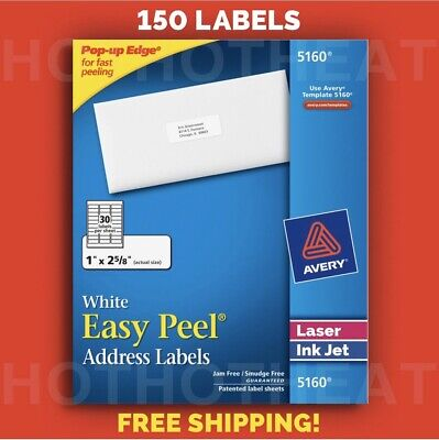 150 Avery 5160624081605960 Address Mailing Shipping Labels 1 X 2 58