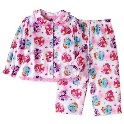 Movie 4t (NWT Size 4T My Little Pony The Movie Button Down Pajamas Pj's Jammies)