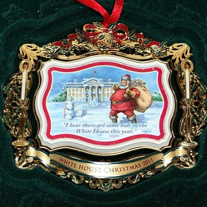 Lot (3) White House Christmas Ornaments 2005 2007 2011 with Boxes