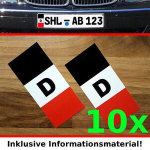 10 Paar - Nummernschild - Kennzeichen Aufkleber