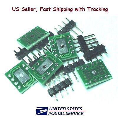 5pcs Smd Sosopsoic 8 To Dip8 Adapter Converter Wcooling Pad Pcb Wpin Headers