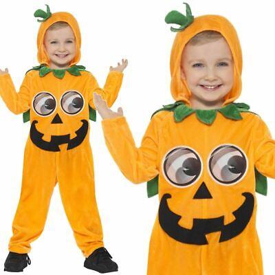 Kids Boys Girls Toddler Cute Spooky Pumpkin Fancy Dress Halloween Costume - Spooky Kids Kostüm