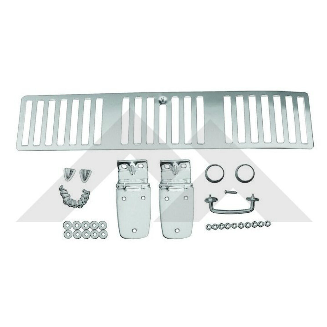 Kentrol Hood Kit Polished Stainless for Jeep Wrangler TJ 1997 30505
