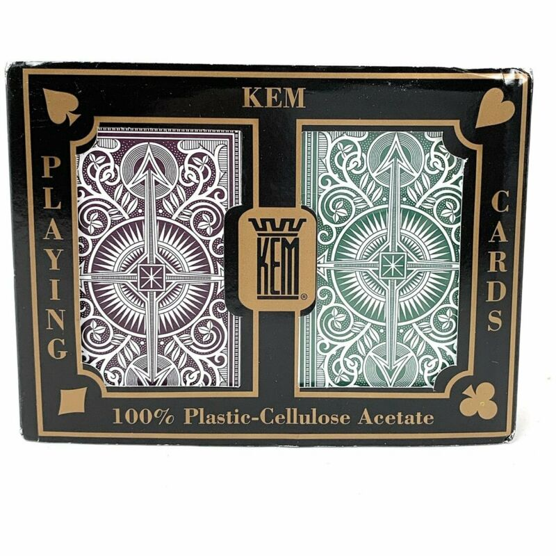 KEM Arrow Green and Brown Playing Cards