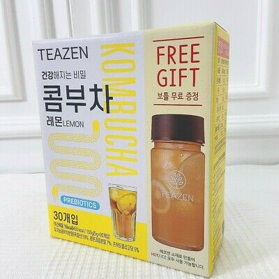 Teazen Kombucha Lemon 30 Sticks Prebiotics + Bottle BTS Jung Kook