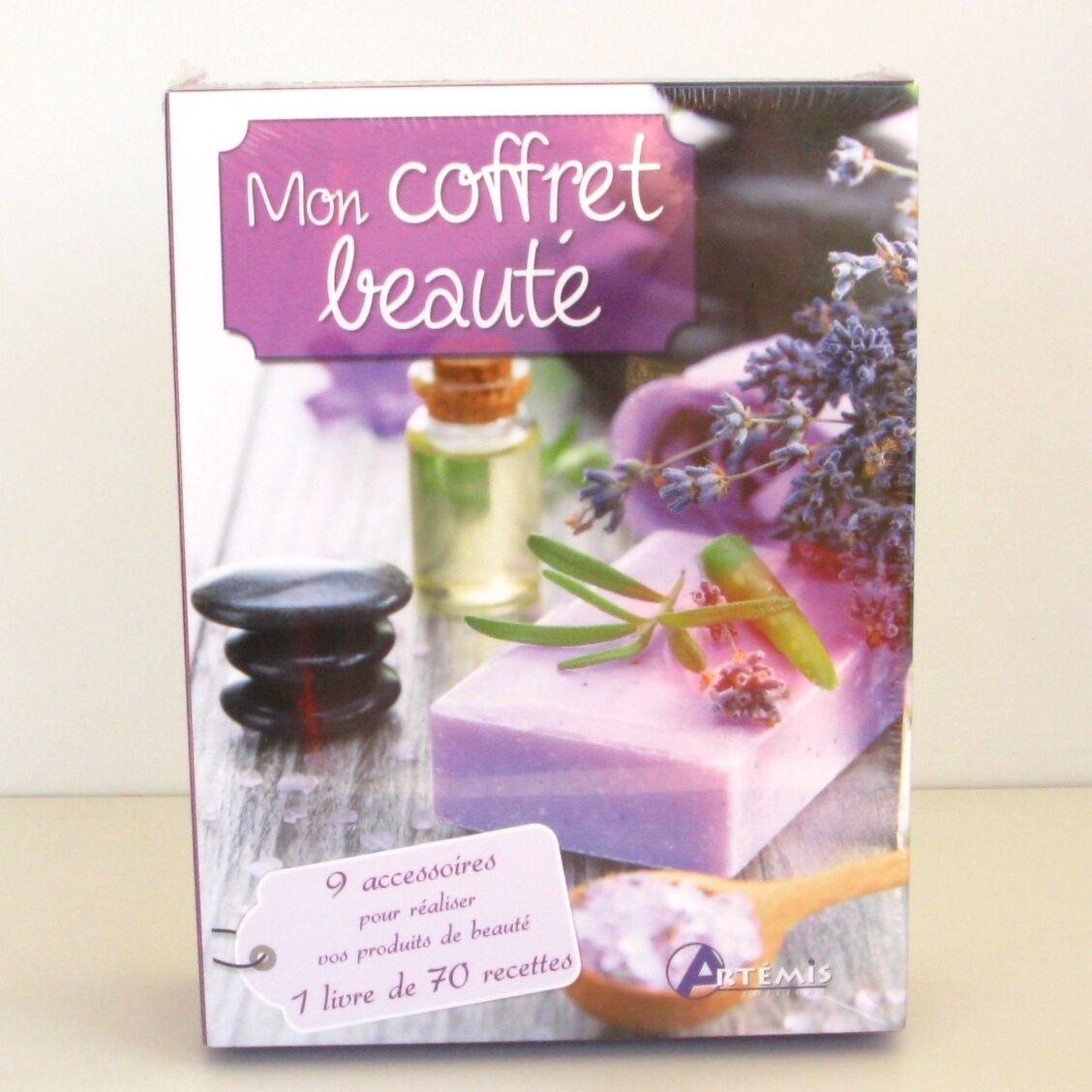 Mon coffret Beauté - Coffret cadeau -  9 accesoires et 1 livre de 70 recettes