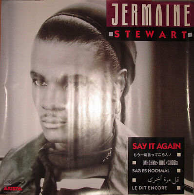 JERMAINE STEWART Say It Again, Arista promotional poster, 1987, 24x24, VG+