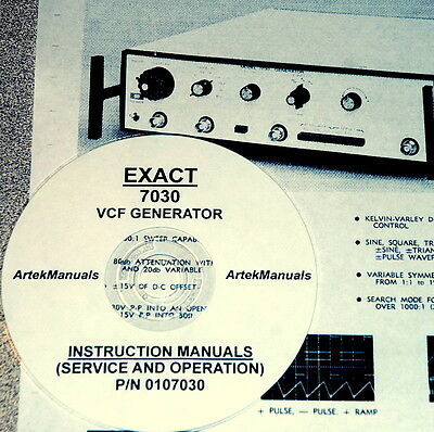 Exact 7030 Vcf Generator Operating And Service Manual