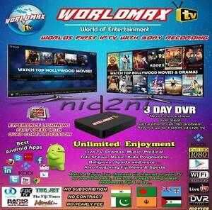 WorldMAX TV Quad Core Android HD IPTV Box Indian, Pakistan,Nepali Plympton Park Marion Area Preview