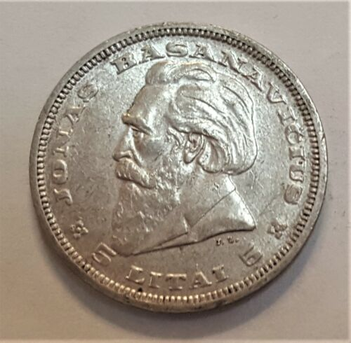 1936 Lithuania 5 Silver Litai Grading in the XF Range Priced Right FREE S&H  f25
