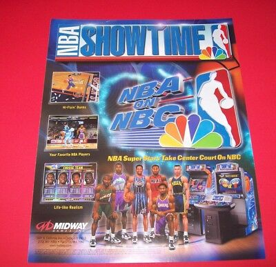 Midway Arcade Video Game Nba Showtime Blitz 99 Changeover Original Manual Collectibles