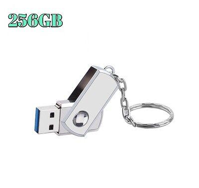 256Gb Usb 2 0 Flash Drive Disk Memory Stick Thumb Storage Swivel Metal Keychain