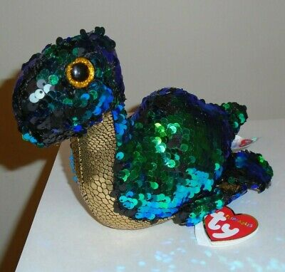 """Ty FLIPPABLES ~ NESSIE the Loch Ness Monster (UK Exclusive) 6-7"""" Beanie Boos NEW"""