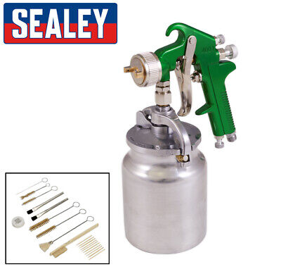 Sealey Paint Spray Gun - 2.5mm Setup - Primer Under coat etc - With Cleaning Kit