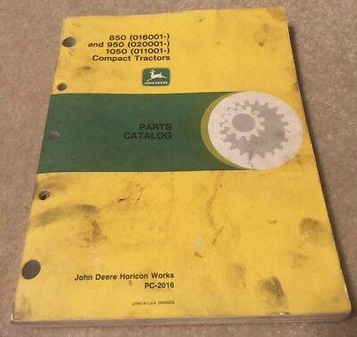 Parts Manualcatalog John Deere 850 850 1050 Pc2016