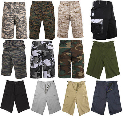 Below Knee Extra Long Cargo Tactical Shorts Camo BDU Military Rothco