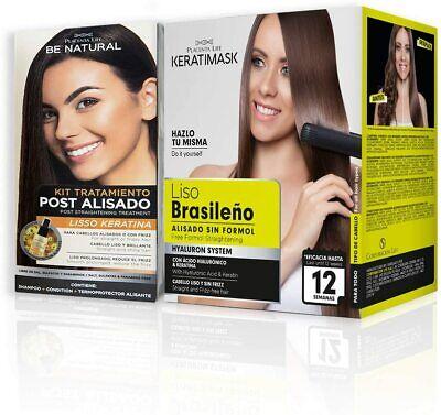Pack Be Natural, Alisado Brasileño Keratimask + Post Alisado Liso Keratina.