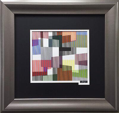 "Yaacov Agam ""Plastic Fusion 2"" Framed HAND SIGNED Lthograph Judaica Israeli ART  for sale  Deer Park"