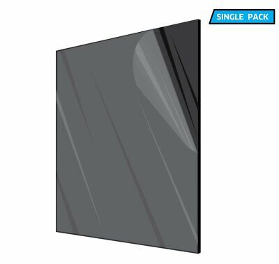 Adiroffice Plexiglass Opaque Black Acrylic Sheet 18 In. Thick 12 In. X 12 In.