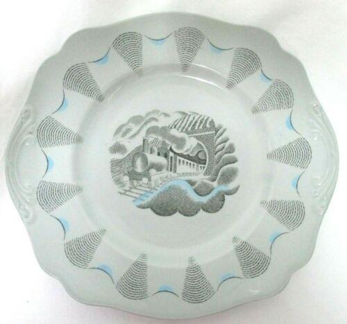 "WEDGWOOD O. Barlaston Train TRAVEL Pattern Square Plate Platter Fine China 10"""