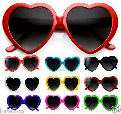 Nuova Cuore Lolita Love Vintage Retro vestito occhiali da sole Donna Uomo Festa