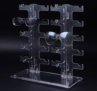 Eyeglass Sunglasses Storage Display Stand Holder Organizer Case for 10 (Sunglass Case Holder)
