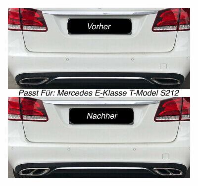 Top Chrom Edelstahl Auspuffblende Für Mercedes E-Klasse T-Model S212  (205