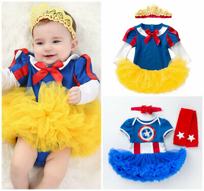 Halloween Birthday Outfits (baby girls Halloween costume birthday party dress+headband girls outfits)