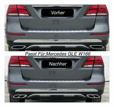 Top Chrom Edelstahl Auspuffblende Für Mercedes GLE W166  (205