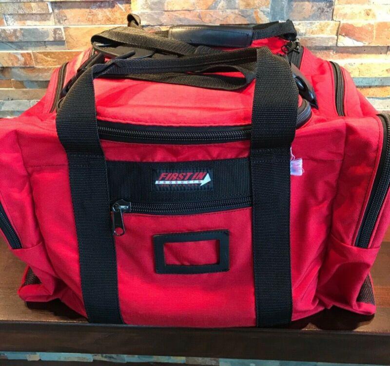 FIRST RESPONDER  Fireman XL Turnout Fire Gear Bag  RED