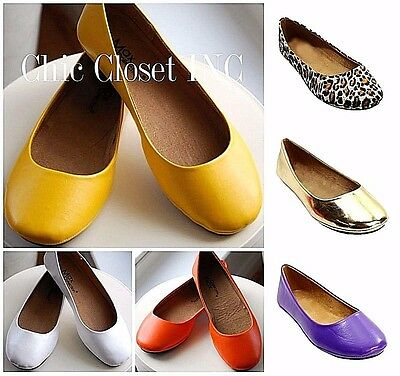 Women Fashion Dressy Casual Cute Ballet Flat Round Toe Comfy Slip On Color Shoes - Shoes Flats Dressy