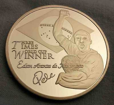 Pele Silver Coin WORLD CUP Autographed Sports Argentina Italy Russia 2018 Brazil