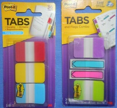 Post-it Flags And Tabs Lot Of 2 Packs