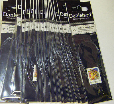 Danielson Snelled Baitholder Hooks Bronze 24 pks Size 10  Wholesale Fishing Lot