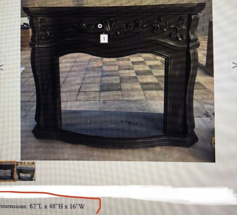 ANTIQUE CARVED WOOD FIREPLACE MANTEL SURROUND ORNATE