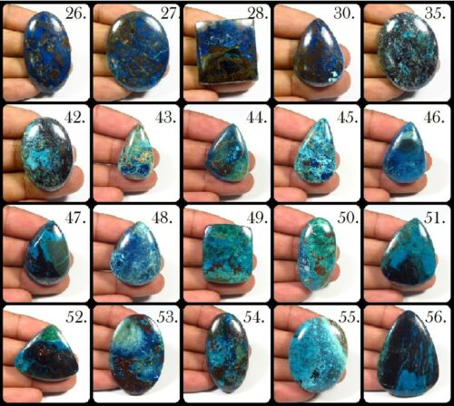 BLUE AZURITE CABOCHON MIX SHAPE LOOSE NATURAL DESIGNER GEMSTONE FOR JEWELRY AZ-B
