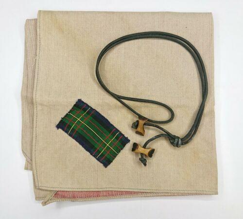 UK BSA Boy Scout Gilwell Tartan Woodbadge Neckerchief Leader Trainning 2 Beads