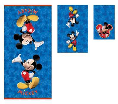 Disney Mickey Mouse 3 Piece Beach Travel Bath Towels Set 100% Cotton (Disney Mickey Mouse Towels)