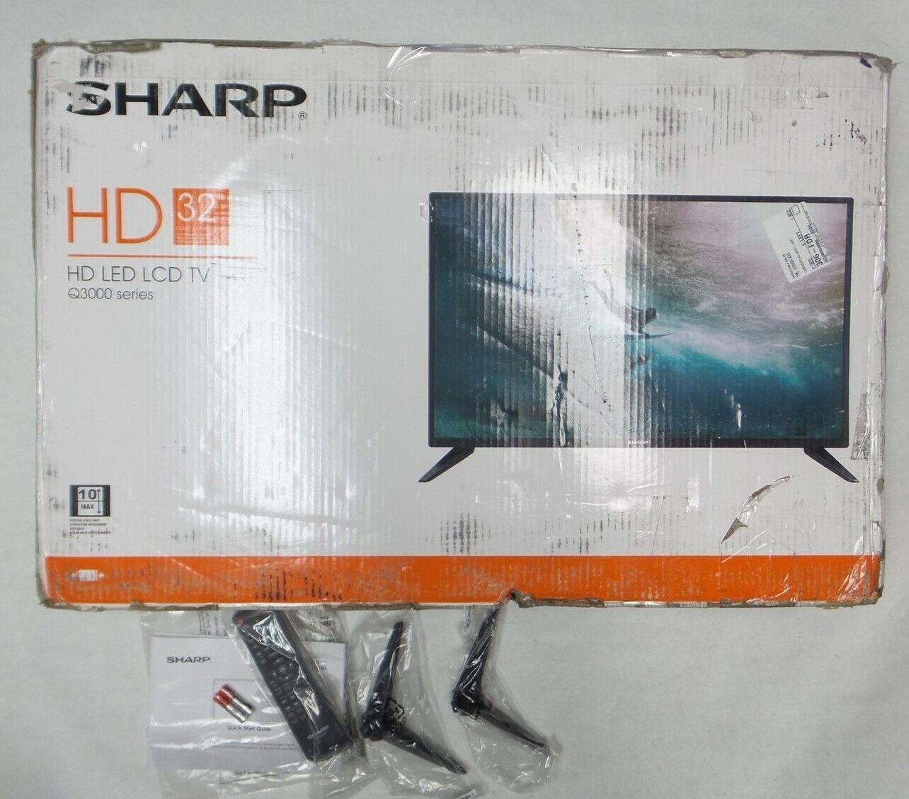 Sharp LC-32Q3170U 32 inch 720P LED HD TV with 2 HDMI inputs, 1 USB Port - BROKEN