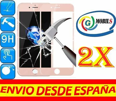 2 Protector Cristal Templado COMPLETO ROSA APPLE IPHONE 6 6S 4.7 PROTECTORES...