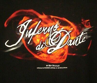Key Poulan Marching Band Music Tee Inferno Di Dante Drum Corps Lrg T Shirt